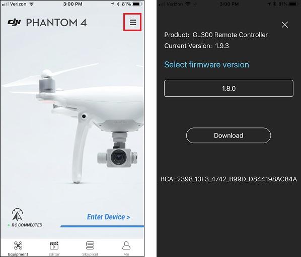 HOW TO: Downgrade Phantom 4 firmware - Phantom 4 - DJI ...
